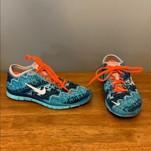 Nike Running Shoes Blue Print Women's 5.5